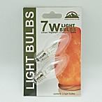 Himalayan Glow 2-Pack 7-Watt Nightlight Bulbs for Salt Lamps