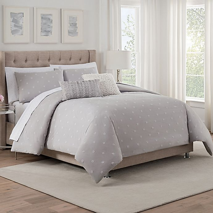 Alternate image 1 for Isaac Mizrahi Home Whitby Queen Comforter Set in Grey