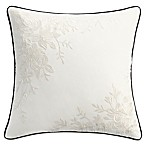 Isaac Mizrahi Home Lilla Square Throw Pillow in Ivory