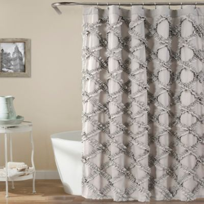 Lush Decor 72 Inch X 72 Inch Ruffle Diamond Shower Curtain