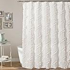 Lush Decor 72-Inch x 72-Inch Ruffle Diamond Shower Curtain in White