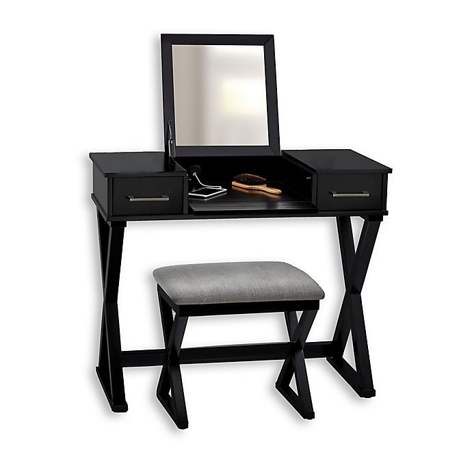 Swell Alexis Vanity With Stool Bed Bath And Beyond Canada Andrewgaddart Wooden Chair Designs For Living Room Andrewgaddartcom