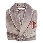 Wamsutta® Small/Medium Personalized Plush Robe in Grey