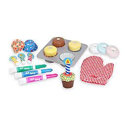 Melissa & Doug® Wooden Bake & Decorate Cupcake Set