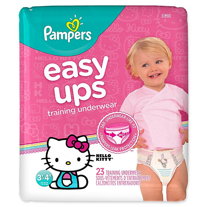 Alternate image 1 for Pampers® Easy Ups Size 3-4T 23-Count Girl's Training Underwear