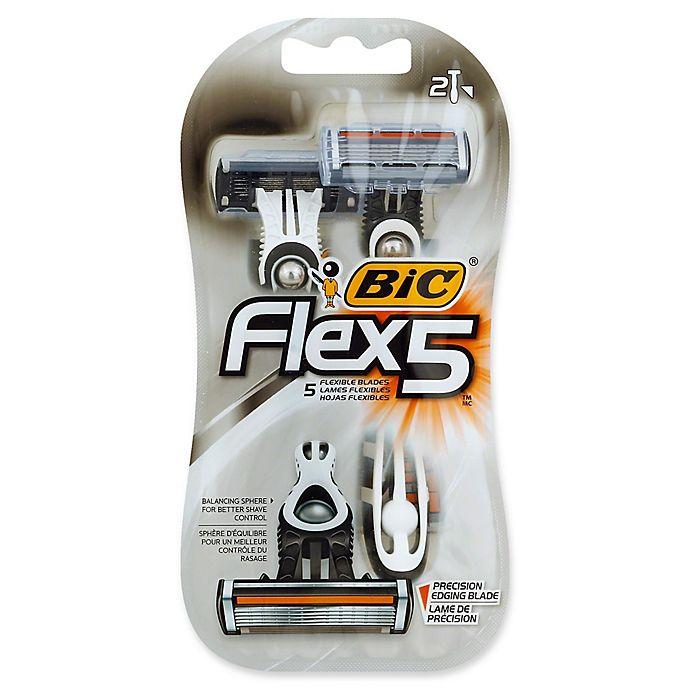 Alternate image 1 for BIC® Flex 5™ 2-Count Men's Disposable Razor