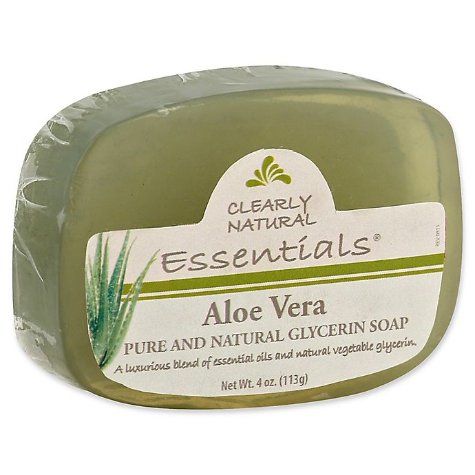 Alternate image 1 for Clearly Natural Essentials 4 oz. Glycerine Bar Soap in Aloe