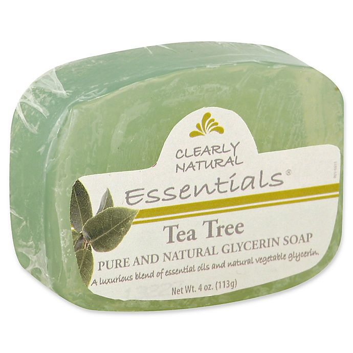 Alternate image 1 for Clearly Natural Essentials 4 oz. Glycerine Bar Soap in Tea Tree