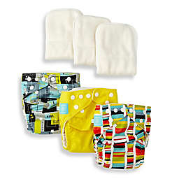 Charlie Banana® 9-Piece Patented Reusable One Size Diapers in Artist
