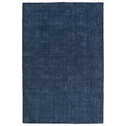 Kaleen Lauderdale Indoor/Outdoor Solid 2-Foot x 3-Foot Accent Rug in Blue