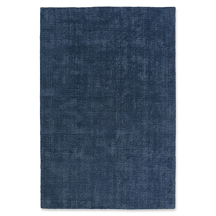 Alternate image 1 for Kaleen Lauderdale Indoor/Outdoor Solid 5-Foot x 7-Foot  6-Inch Area Rug in Blue