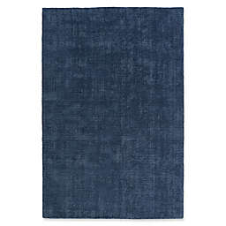 Kaleen Lauderdale Indoor/Outdoor Solid 5-Foot x 7-Foot  6-Inch Area Rug in Blue