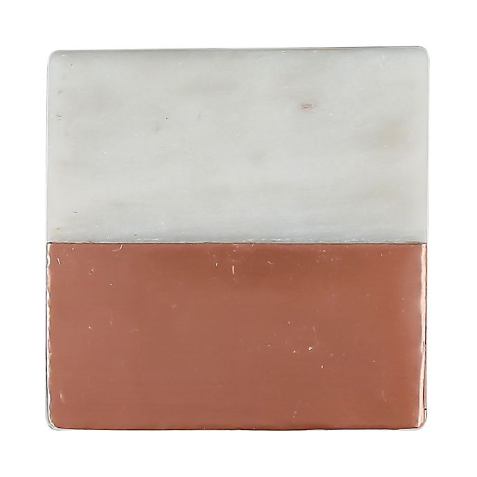 Thirstystone 174 Copper Plated White Marble Square Single
