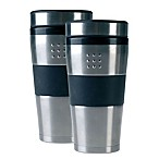 BergHOFF® 16 oz. Orion Travel Mugs in Black (Set of 2)