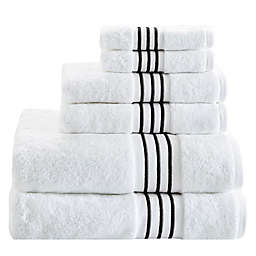 Madison Park Signature Elloy 6-Piece Embroidered Cotton Towel Set