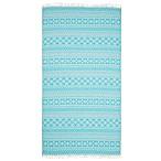 Linum Home Textiles Sea Breeze Pestemal Beach Towel in Turquoise
