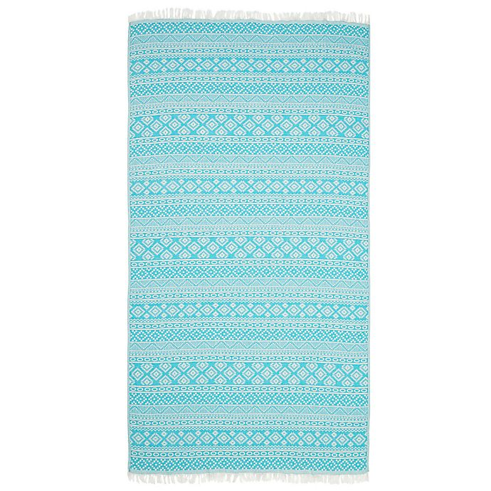 Alternate image 1 for Linum Home Textiles Sea Breeze Pestemal Beach Towel in Turquoise