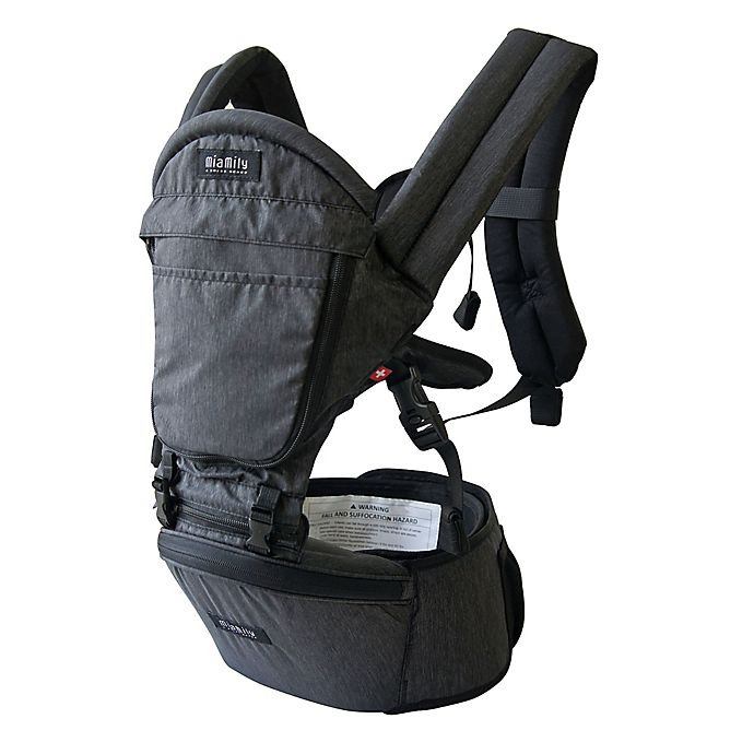 cd3a69ce1d2 MiaMily Hipster Plus 3D baby carrier in Charcoal