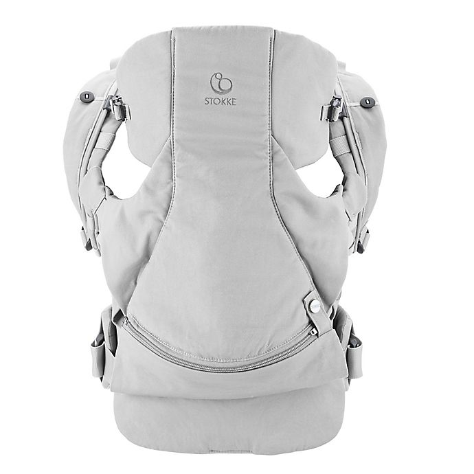 Alternate image 1 for Stokke® MyCarrier™ 3-in-1 Front and Back Cotton Carrier in Grey