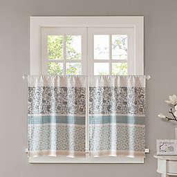 Madison Park Dawn 24-Inch Kitchen Window Curtain Tier Pair in Blue