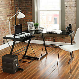 Forest Gate Harbor Modern Corner Computer Desk in Black