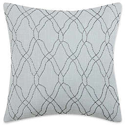 Charisma Home Legacy Square Throw Pillow in Blue/Cream