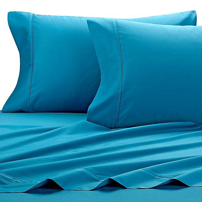 Alternate image 1 for SHEEX® Micro•BALANCE 37.5®  Performance 300-TC California King Sheet Set in Turquoise