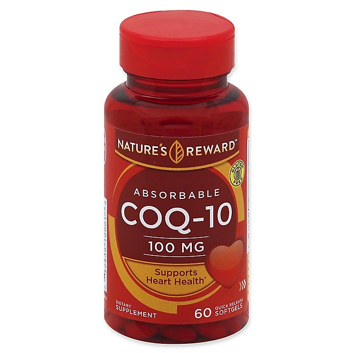 Alternate image 1 for Nature's Reward™ 60-Count 100 mg Absorbable CoQ-10 Quick Release Softgels