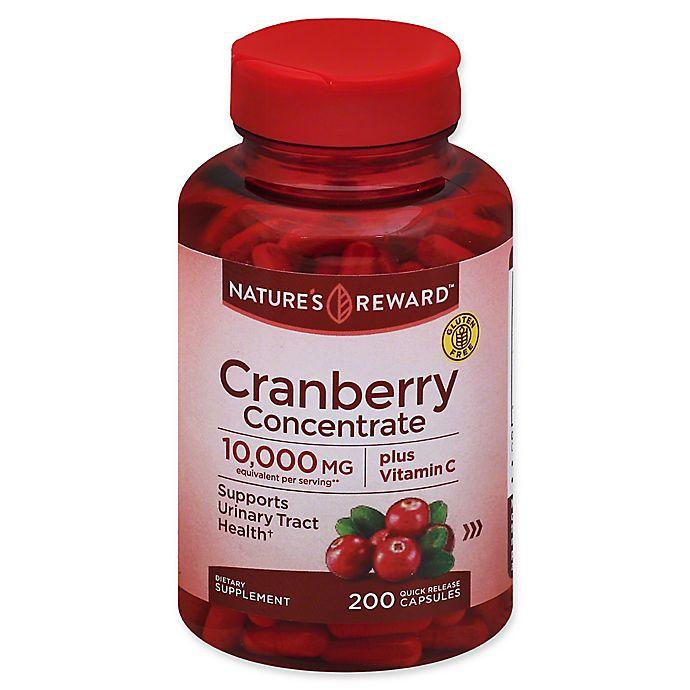 Alternate image 1 for Nature's Reward™ 200-Count Cranberry Concentrate Plus Vitamin C Quick Release Capsules