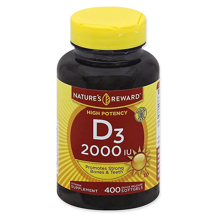 Alternate image 1 for Nature's Reward™ 400-Count 2000 IU High Potency Vitamin D3 Quick Release Softgels