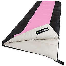 Wakeman Outdoors 2-Season Sleeping Bag in Pink