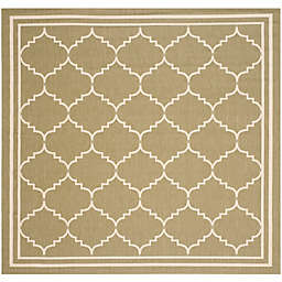 Safavieh Courtyard 6-Foot 7-Inch x 6-Foot 7-Inch Remi Indoor/Outdoor Rug in Green/Beige