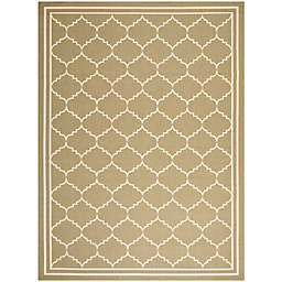 Safavieh Courtyard 8-Foot x 11-Foot Remi Indoor/Outdoor Rug in Green/Beige