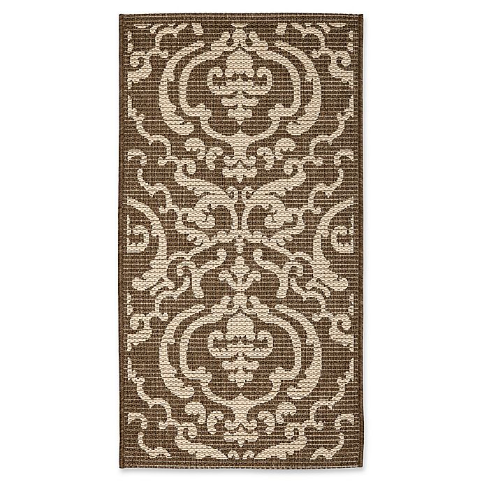 Alternate image 1 for Safavieh Courtyard 2-Foot 7-Inch x 5-Foot Sophie Indoor/Outdoor Rug in Chocolate/Natural