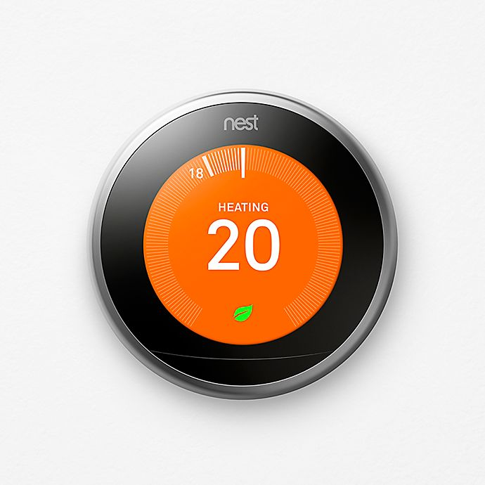 Alternate image 1 for Google Nest Learning Thermostat 3rd Generation in Stainless Steel