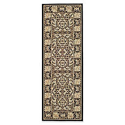 Safavieh Courtyard 2-Foot 3-Inch x 6-Foot 7-Inch Lena Indoor/Outdoor Rug in Black/Sand