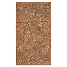 Safavieh Courtyard 4-Foot x 5-Foot 7-Inch Kynlee Indoor/Outdoor Rug in Gold/Natural