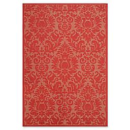 Safavieh Courtyard Lyla 2'7 x 5' Indoor/Outdoor Area Rug in Red/Red