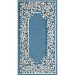 Safavieh Courtyard 2-Foot x 3-Foot 7-Inch Kinley Indoor/Outdoor Rug in Blue/Natural