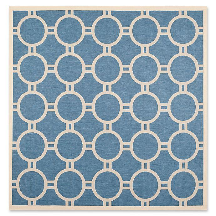 Alternate image 1 for Safavieh Courtyard 7-Foot 10-Inch x 7-Foot 10-inch Jaelyn Indoor/Outdoor Rug in Blue/Beige