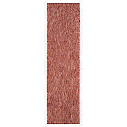 Safavieh Courtyard Amia 2'3 x 12' Indoor/Outdoor Runner in Red