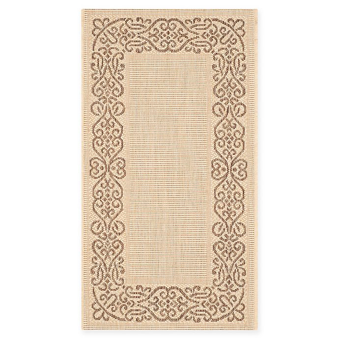 Alternate image 1 for Safavieh Courtyard 2-Foot x 3-Foot 7-Inch Anna Indoor/Outdoor Rug in Natural/Brown