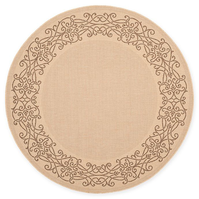 Alternate image 1 for Safavieh Courtyard 6-Foot 7-Inch x 6-Foot 7-Inch Anna Indoor/Outdoor Rug in Natural/Brown