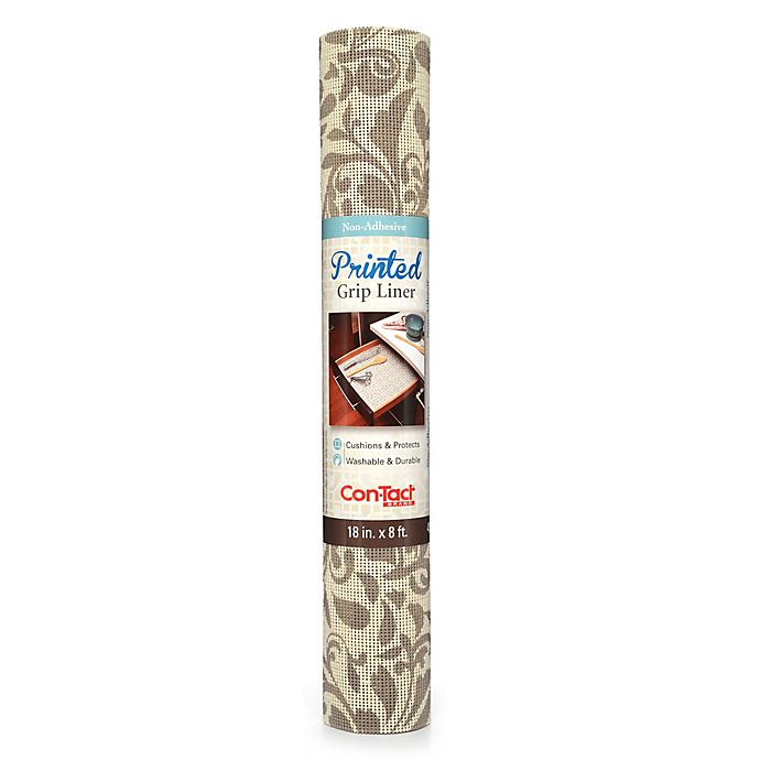 Con-Tact® Grip Print Non-Adhesive Shelf Liner   Bed Bath ...