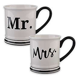 Formations Mr.& Mrs. Mug Collection in Black/White
