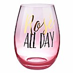 Formations  Rose All Day  Stemless Wine Glass in Pink