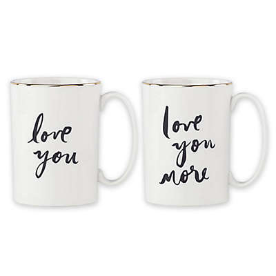 "kate spade new york Bridal Party ""Love."" & ""Love You More"" Mugs (Set of 2)"