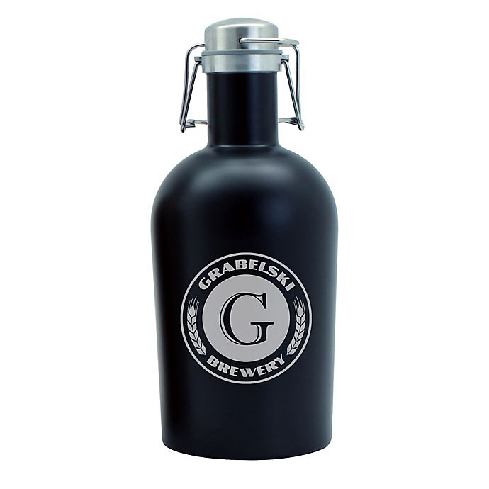 Alternate image 1 for Susquehanna Glass Brewery Stainless Steel Beer Growler in Black