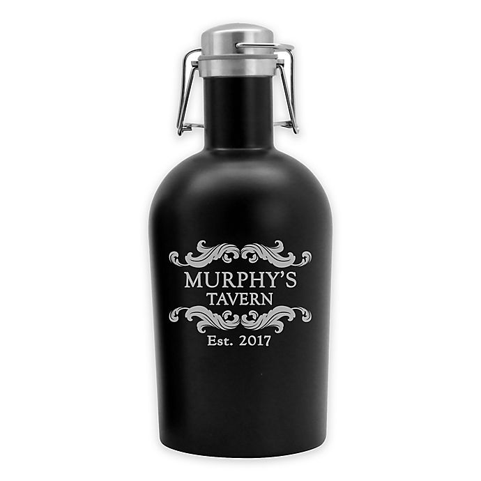 Alternate image 1 for Susquehanna Glass Tavern Stainless Steel Beer Growler in Black