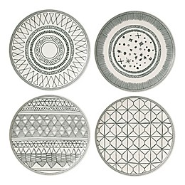 ED Ellen DeGeneres Crafted by Royal Doulton® Grey Lines 8-Inch Plates (Set of 4)